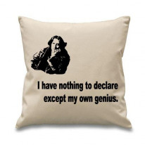 Oscar Wilde I Have Nothing To Declare Cushion