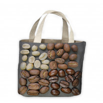 Coffee Beans Assorted Tote Shopping Bag For Life