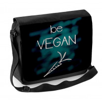 Be Vegan Laptop Messenger Bag