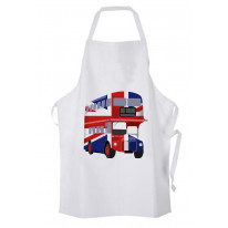 London Bus Union Jack Cotton Chef's Kitchen Apron