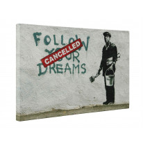 Banksy Follow Your Dreams Cancelled Box Canvas Print Wall Art - Choice of Sizes