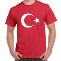 Turkish Coat Of Arms Flag Men's T-Shirt