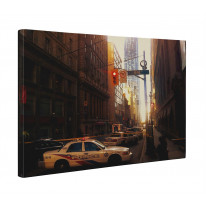 Toronto Street Scene With Police Cars Canvas Print Wall Art - Choice Of Sizes