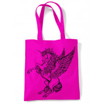 Unicorn Large Print Tote Shoulder Shopping Bag