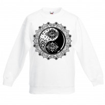Yin and Yang Mandala Hipster Tattoo Children's Toddler Kids Sweatshirt Jumper