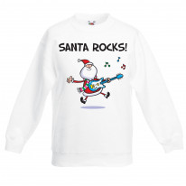 Santa Claus Rocks Funny Christmas Kids Jumper \ Sweater