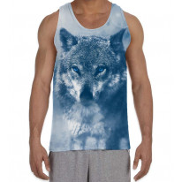 Wolf in Snow Men's All Over Graphic Vest Tank Top