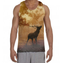 Stag in Forest Men's All Over Graphic Vest Tank Top