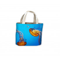 Two Jellyfish Tote Shopping Bag For Life