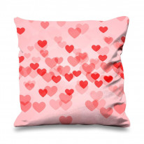 Cluster of Love Hearts Cute Valentines Day Faux Silk Heart Shaped Sofa Cushion