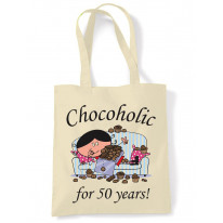 Chocoholic For 50 Years 50th Birthday Tote Bag