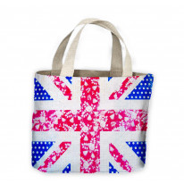 Floral Union Jack Tote Shopping Bag For Life