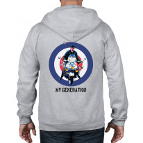 My Generation Mod Scooter Full Zip Hoodie