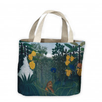 Henri Rousseau Repast Of The Lion Tote Shopping Bag For Life