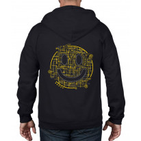 Electric Smiley Acid Face Full Zip Hoodie