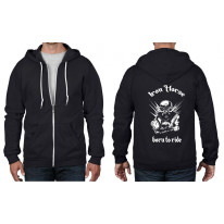 Iron Horse Born To Ride Biker Full Zip Hoodie
