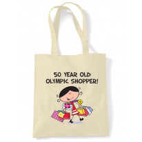 50 Year Old Olympic Shopper 50th Birthday Tote Bag