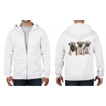 Pug Puppies Full Zip Hoodie