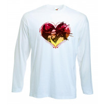 Rasta Heart Dreadlocks Long Sleeve T-Shirt