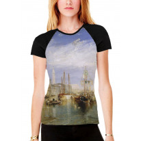 William Turner Grand Canal Venice Women's All Over Graphic Contrast Baseball T Shirt