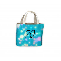 Birthday Balloons 70th Gift Present Celebration Tote Shopping Bag For Life