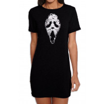 Grim Reaper Scream Women's Short Sleeve T-Shirt Dress