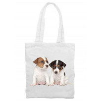 Jack Russell Puppies Tote \ Shoulder Bag