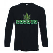 Cannabis Periodic Table Marijuana Long Sleeve T-Shirt