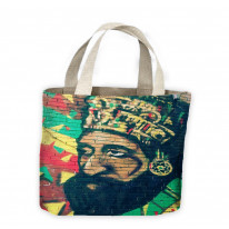 Heile Selassie Graffiti Street Art Tote Shopping Bag For Life