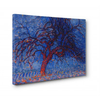 Piet Mondrian Red Tree Box Canvas Print Wall Art - Choice of Sizes