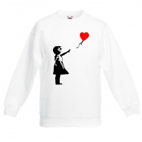 Banksy Balloon Girl Heart Children's Unisex Sweatshirt Jumper