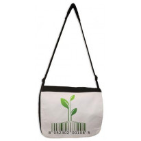 Vegetarian Barcode Logo Laptop Messenger Bag