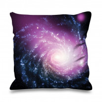 Spiral Galaxy Faux Silk 45cm x 45cm Sofa Cushion