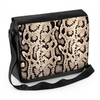 Snake Skin Pattern Laptop Messenger Bag