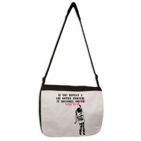 Banksy If You Repeat A Lie Laptop Messenger Bag