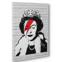 Banksy Queen Bitch Box Canvas Print Wall Art - Choice of Sizes