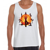 Yoga Wheel Men's Tank Vest Top