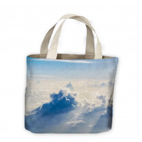 High Altitude Clouds Blue Sky Tote Shopping Bag For Life