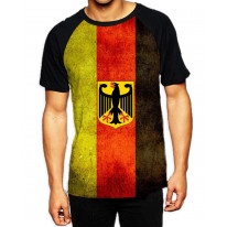 German Flag Men's All Over Graphic Contrast Baseball T Shirt