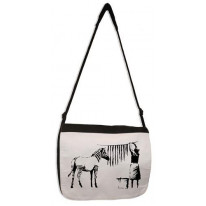 Banksy Washing And Hanging Out Zebra Stripes Laptop Messenger Bag