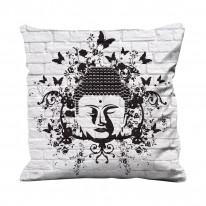 Buddha Butterfly Faux Silk 45cm x 45cm Sofa Cushion