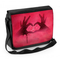 Love Heart Symbol with Hands Laptop Messenger Bag