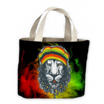 Lion Of Judah Reggae Tote Shopping Bag For Life