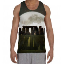Stonehenge Moon Men's All Over Graphic Vest Tank Top