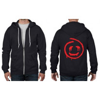 Blood Smiley Face Full Zip Hoodie