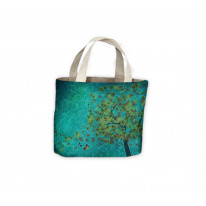 Tree and Leaves Tote Shopping Bag For Life