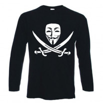 Anonymous Skull & Crossbones Long Sleeve T-Shirt