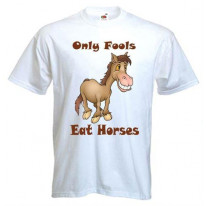 Only Fools Eat Horses Men's Vegetarian T-Shirt