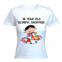 18 Year Old Olympic Shopper 18th Birthday Women's T-Shirt