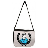 Skinhead Girl Laurel Leaf Laptop Messenger Bag